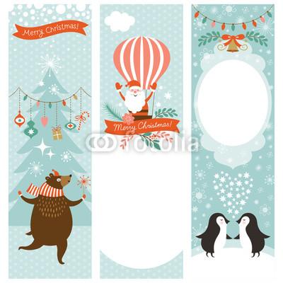 Голубые новогодние баннеры (2)