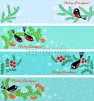 Голубые новогодние баннеры (4)