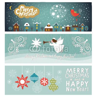 Голубые новогодние баннеры (7)