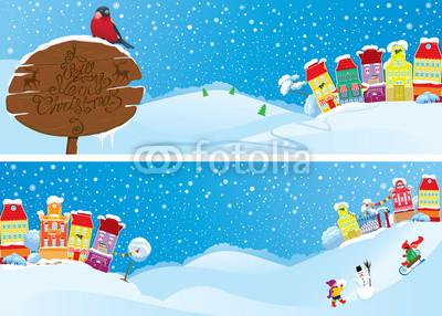 Голубые новогодние баннеры (9)