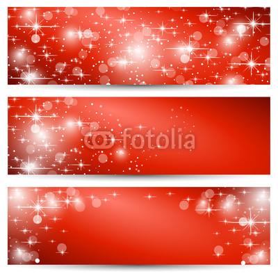 Красные новогодние баннеры (3)
