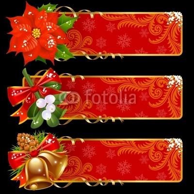Красные новогодние баннеры (5)