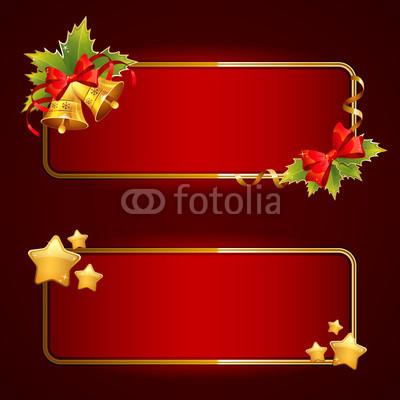 Красные новогодние баннеры (6)