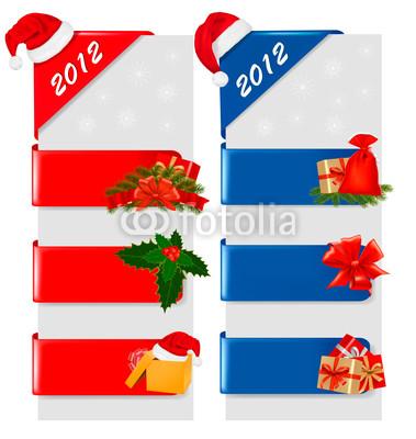 Новогодние баннеры разных цветов (2)