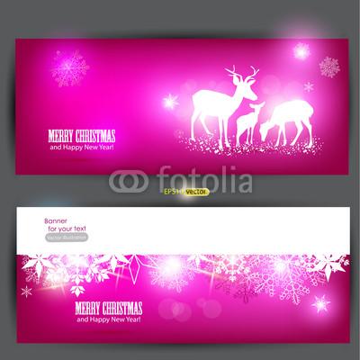Розовые новогодние баннеры (1)