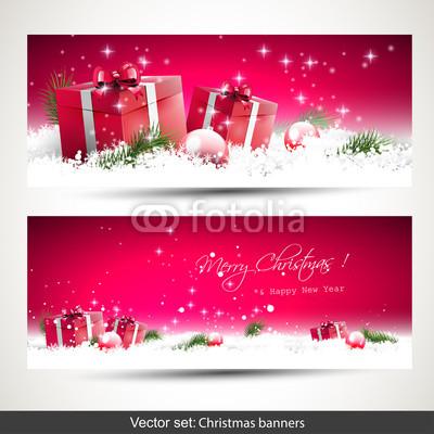 Розовые новогодние баннеры (2)