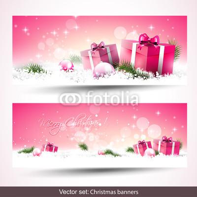 Розовые новогодние баннеры (4)