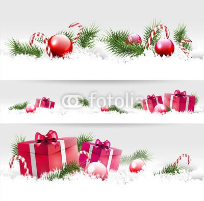 Серые новогодние баннеры (1)