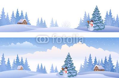 Сине голубые новогодние баннеры (16)