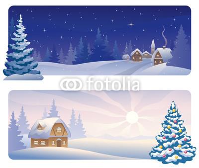 Сине голубые новогодние баннеры (4)