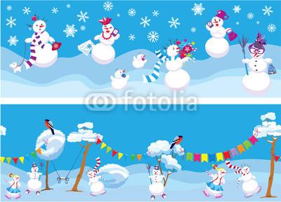Сине голубые новогодние баннеры (5)