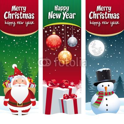 разноцветные новогодние баннеры (8)