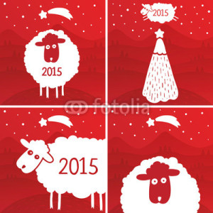 new year 2015 sheep  (1)