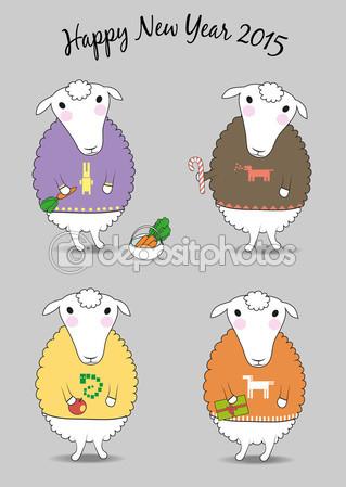 открытки год козы (11)