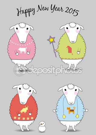 открытки год козы (16)