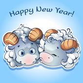 открытки год козы (26)