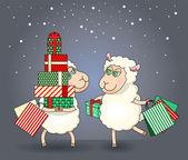открытки год козы (53)