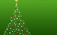 White christmas tree on green