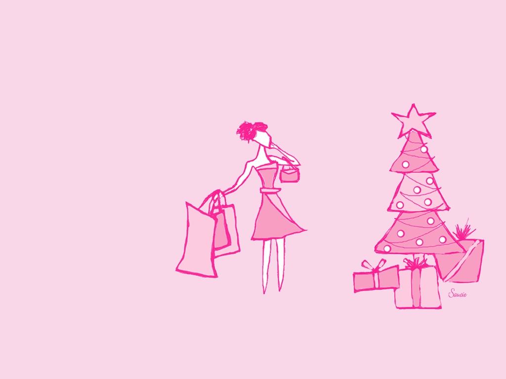 Открытки днем, розовые открытки с новым годом