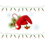santas-hat-and-string-of-christmas-lights