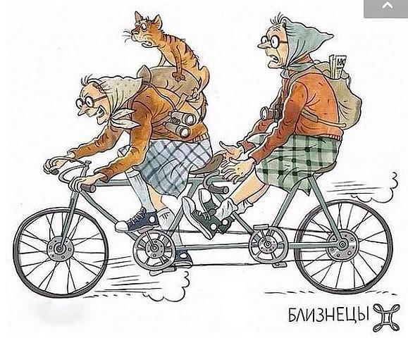 Забавные старушки - знаки зодиака Близнецы