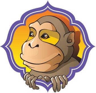 картинки новогодняя обезьяна (33)