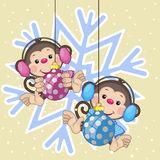 картинки новогодняя обезьяна (87)