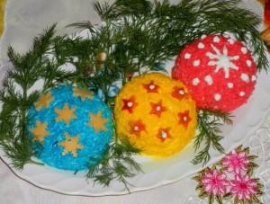 """Салат """"Новогодние шары"""""""