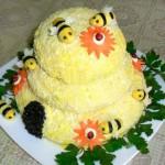 """Салат """"Пчелиный домик"""""""