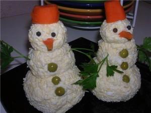 """Салат """"Снеговик"""""""